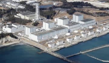 福島県楢葉町と富岡町にまたがる東京電力福島第2原発。左から1、2、3、4号機