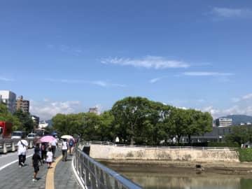 きょう午前10時ごろの広島市中区の様子。(撮影:岡田良昭)