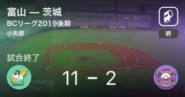 【BCリーグ後期】富山が茨城に大きく点差をつけて勝利