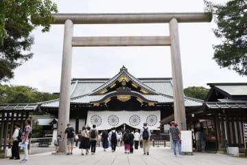 靖国神社=13日午後、東京・九段北