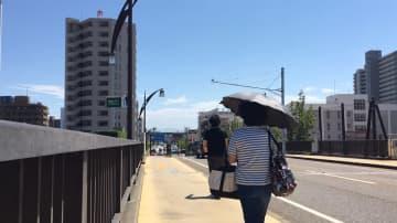 15日正午ごろの新潟市内の様子(撮影:清水祥太/気象予報士)