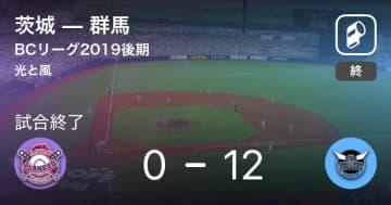 【BCリーグ後期】群馬が茨城に大きく点差をつけて勝利