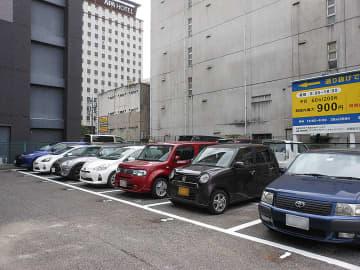 営業を開始した名古屋市中区のコイン駐車場
