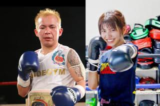ぱんちゃん(右)とJ-GIRLS王者のMIREY(左)が対戦決定
