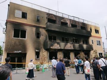 放火による被害を受けた京都アニメーション(L26さん撮影、Wikimedia Commonsより)
