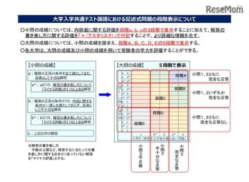 大学入学共通テスト国語における記述式問題の段階表示について