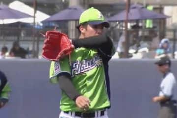 ファームで登板した日本ハム・吉田輝星【画像:パーソル パ・リーグTV】