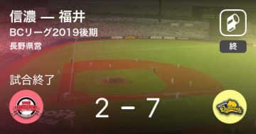 【BCリーグ後期】福井が信濃を破る