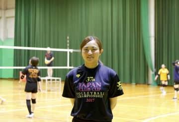 「勝つための厳しさが必要」と語るキャプテンの亀井亜由美