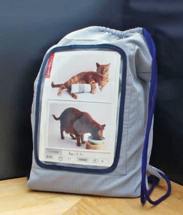 飼い主がネコと一緒に避難するために必要なグッズをそろえた「防災セット」(クロス・クローバー・ジャパン提供)