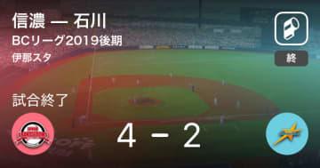 【BCリーグ】信濃が後期優勝を決める!
