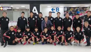 <レスリング>韓国遠征の中学選抜チームが帰国