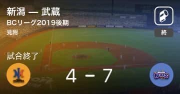 【BCリーグ後期】武蔵が新潟を破る