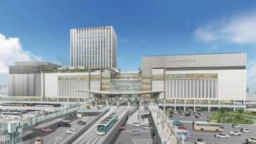 新たな広島駅のイメージ。駅ビルは約600億円の事業費で建て替える