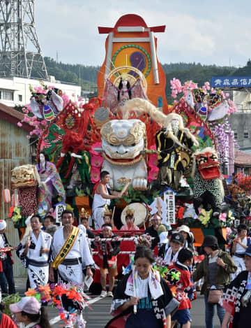 2年連続で最優秀賞に輝いた久川の山車
