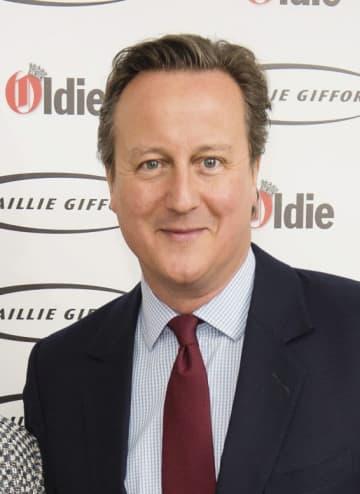 英国のキャメロン元首相(ゲッティ=共同)