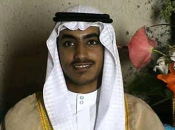 国際テロ組織アルカイダ指導者の故ウサマ・ビンラディン容疑者の息子ハムザ容疑者(CIA提供、AP=共同)
