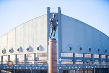 25年ぶりに世界選手権が開催されるロシア・クラスノヤルスクの体育館=提供・UWW