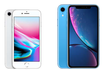 iPhone 8とiPhone XR