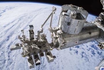国際宇宙ステーションの日本の実験棟「きぼう」(JAXA/NASA提供)