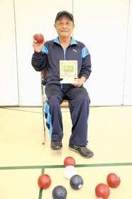 ボッチャの全道大会で優勝した細野さん