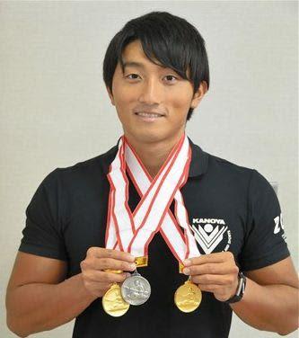 カヌースプリントの日本選手権で初優勝した田原瞭太さん=多良木町