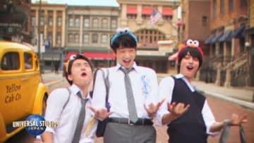神尾楓珠:鈴木仁&若林時英と「3年A組」以来の共演 おそろいカチューシャ&制服姿でUSJ満喫