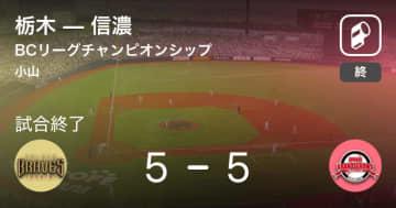 【BCリーグBCLチャンピオンシップ】栃木が信濃と引き分ける