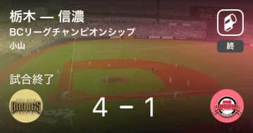 【BCリーグチャンピオンシップ】栃木が信濃を破り、優勝決定!