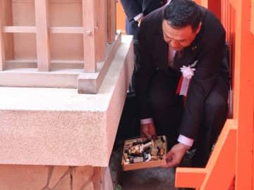 古くなった印章を社殿に納める印章業者(京都市左京区・印納社)