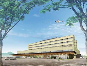 県立新庄病院の新病院の外観イメージ(県病院事業局提供)