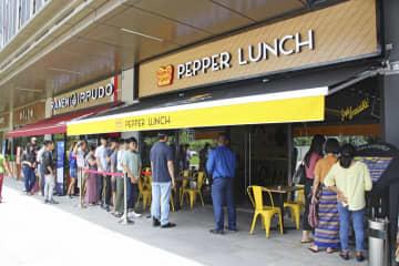 「ペッパーランチ」のミャンマー1号店=8月、ヤンゴン(共同)