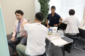 風疹予防の集団接種の様子