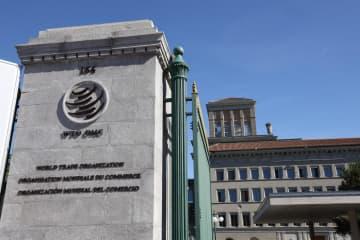 スイス・ジュネーブにあるWTO本部=9月30日(共同)