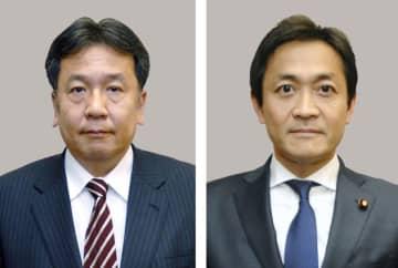 立憲民主党の枝野幸男代表(左)と国民民主党の玉木雄一郎代表=7月撮影
