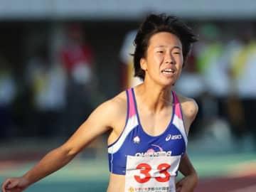 陸上成年女子100メートルで準優勝した斎藤愛美=茨城県笠松運動公園陸上競技場