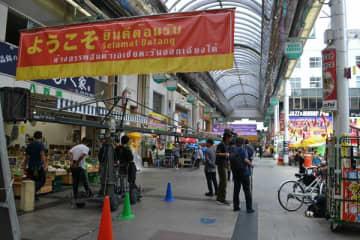 オリオン通りをアジアンタウンに見立てて行われた中国映画の撮影