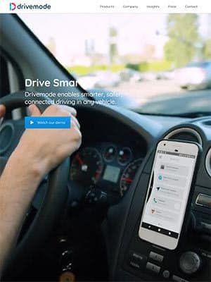 Drivemodeのウェブサイト
