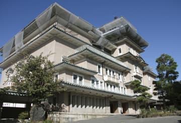 京都・祇園の弥栄会館=9日