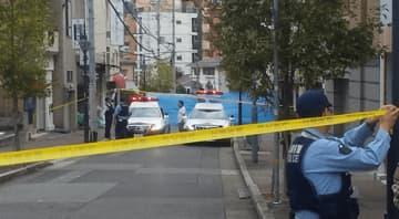神戸山口組の中核団体「山健組」関係者が射殺された現場(2019年10月10日 写真:ラジオ関西)
