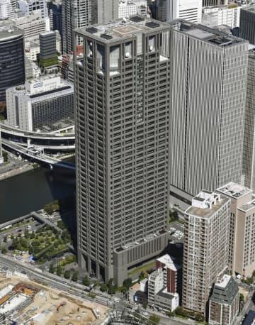 関西電力本店(中央)=大阪市