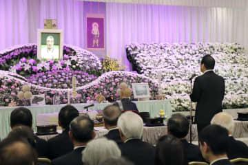 しめやかに執り行われた金田正一さんの葬儀・告別式=13日、東京都内(カネダ企画提供)