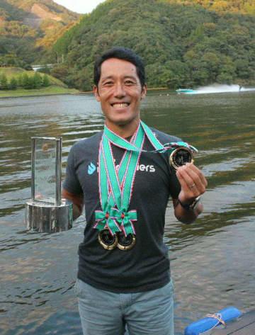 全日本選手権2連覇を決めた山本さん。「これからも連覇を続ける」と張り切る