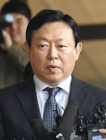 韓国ロッテグループ会長の重光昭夫被告