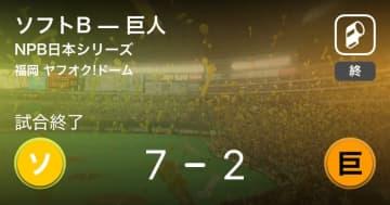 【NPB日本シリーズ第1戦】ソフトBが巨人を破る