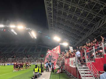 ヴィッセル神戸が天皇杯準々決勝に勝利した(ノエビアスタジアム神戸)(写真:ラジオ関西)