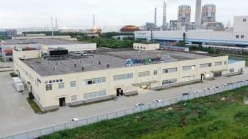 バンプーが中国の江蘇省で稼働させたリチウムイオン電池工場(同社提供)