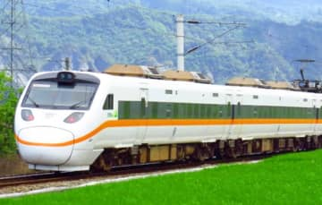 An undated photo shows Taiwan Railways Administration's existing train running in the fields. (Photo courtesy of Taiwan Railways Administration)