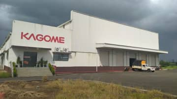 Kagome Co.'s tomato processing plant in Nashik in the western Indian state of Maharashtra is pictured on Oct. 21, 2019. (Photo courtesy of Kagome Foods India Pvt. Ltd.)