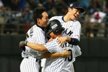 「第1回 WBSC プレミア12」での中田翔の活躍が再脚光【写真:Getty Images】